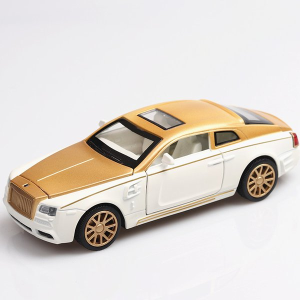 1:32 Rolls- Royce Phantom Diecasts & Toy Vehicles Car Model With Sound&light Collection Car Toys For Boy Children Gift J190525