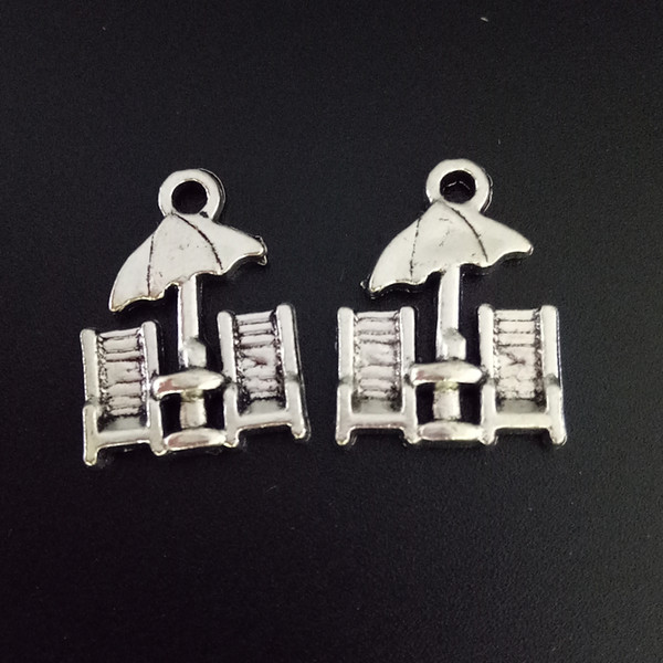 100pcs Charms Beach Chairs Tibetan Silver Beads Pendant For DIY Jewelry Craft Bracelet Necklace Findings 15*20mm