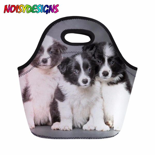 Thermal Lunch Box for Kids School Picnic Cooler Bag Meal Bag Ladies Border Collie Daypack Tote Handbag Women Picnic Snacks Bags