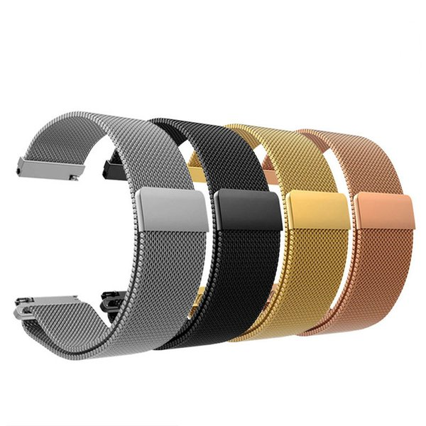 Milanese Loop for LG Watch SPORT Huawei watch2 pro Moto360 2 42mm Smart Watch Strap Magnetic Clasp Stainless Steel Band with Retail Package