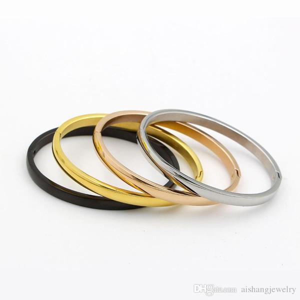 PB11 neue Artart und weisefrauen Allgleiches Goldplatte-Titanarmband der einfachen Art für Geschenk freies sgipping