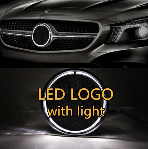 eOsuns Illuminated Car LED Light Front Grille Star Logo Emblem Badge for Mercedes Benz Car-styling size 18cm/7.09inch