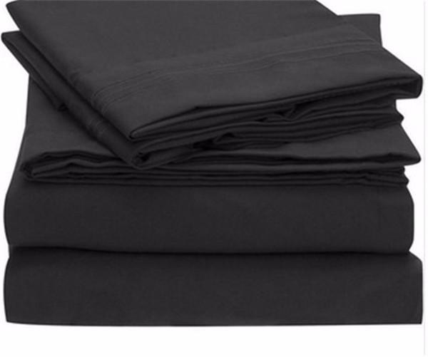Bed Sheet Set - Brushed Microfiber 1800 Bedding - Wrinkle, Fade, Stain Resistant Hypoallergenic 4 Piece Duvet Cover