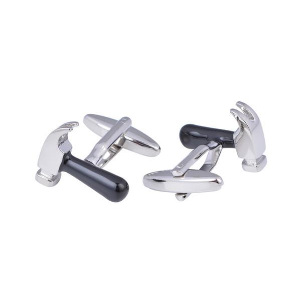 High Quality Saws Hammer Cufflinks for Mens Shirt Cuff Bottons High Quality Silver Tool Cufflinks
