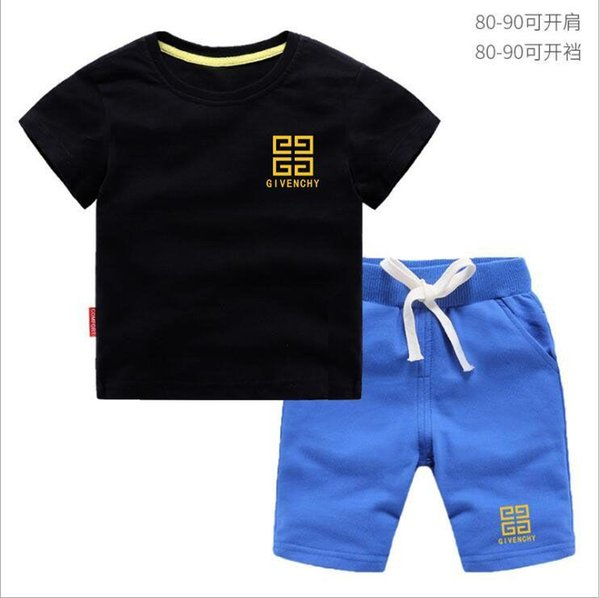 8efd235e8 Sale HOT 2018 New Spring Luxury Logo Designer Baby Boy's t-shirt Pants Two-