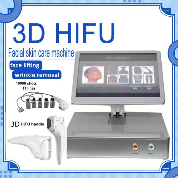 best selling Beauty salon facial and body lifting 10000 shots hifu 3d hifu with 8 cartridges for skin care wrinkle removal