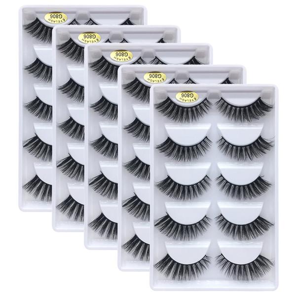 5 pairs/lot Mink Eyelashes 3D Natural False Eyelashes 3d Mink Lashes Soft Eyelash Extension Makeup Kit Cilios
