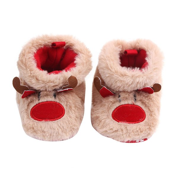 Christmas Shoes For Girls.Baby Boots Christmas Shoes Baby Girls Boys Snow Boots Cute Warm Plush Infant Toddler Shoes Girls Brown Boots Size 3 Cowgirls Boots For Kids From