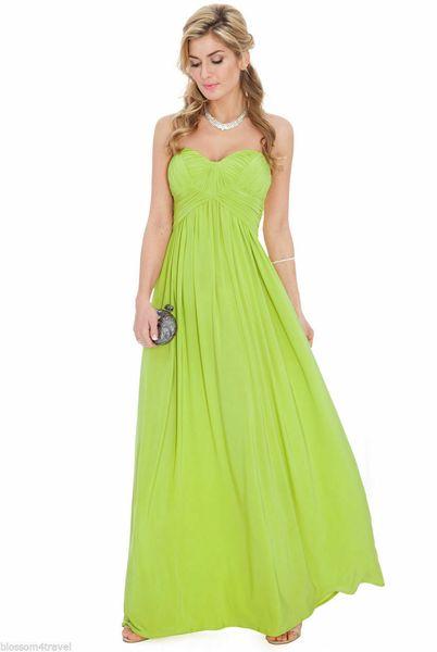 뜨거운 판매 섹시한 여신 - Goddiva 긴 그리스 쉬폰 끈이 저녁 파티 댄스 파티 맥시 드레스 신부 들러리 연인 댄스 파티 드레스