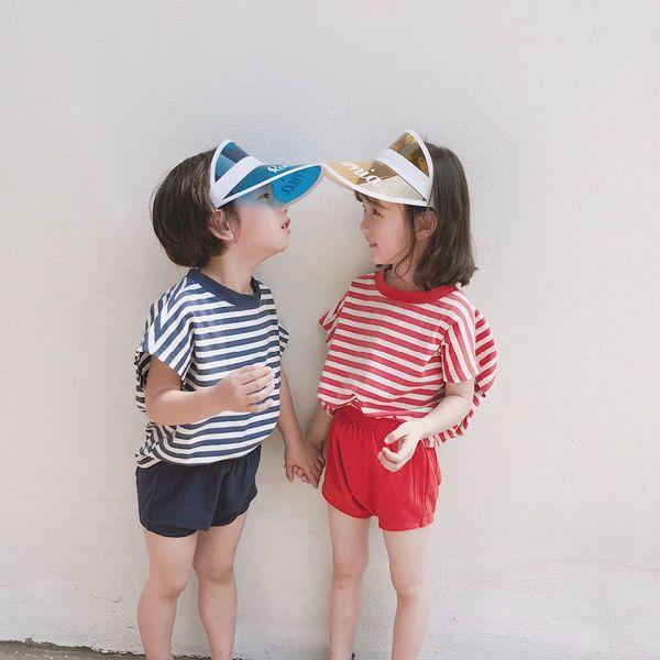 Summer Print Letters Sun Visor Hat For Children Women Blank Brim Clear Plastic Cap Empty Top Hat UV Sun Protection Bicycle Hats
