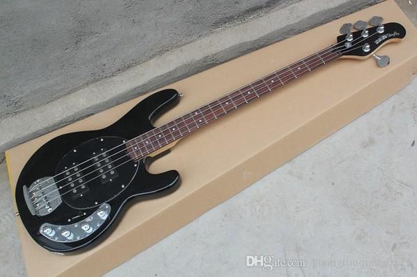 Hot Selling Ernie Ball Musicman Music Man Sting Ray 4 Strings 9V Active Pickup Black Electric Bass Guitar