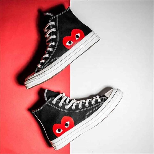 Converse all star 70s COMME DES GARCONS PLAY 2019 Classic 1970s Benevolence Big Eyes Casual Shoes 1970 Big Eyes Mix Rubber Campus Joker Zapatos de lona