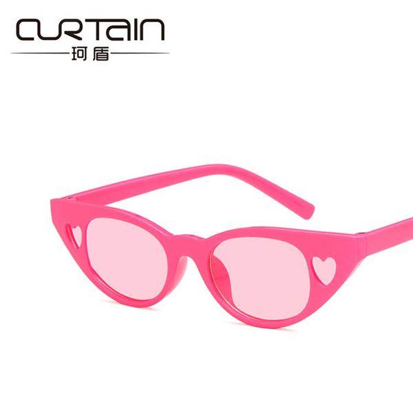 CORTINA Ojo de Gato Gafas de Sol Chica Encantadora Corazón Niños Gafas de Sol Marca de Regalo Bonito Gafas Niños Diseñador de Moda UV400 2019