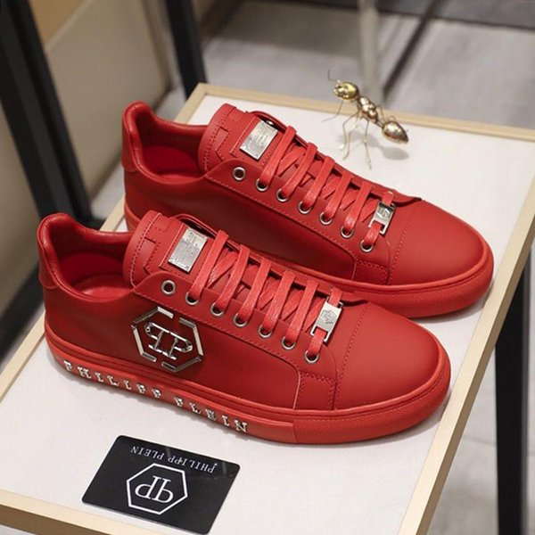 top popular Lo-Top Sneakers Statement Mens Fashion Shoes High Quality Lightweight Lace-up Plus Size Luxury Footwears Fashion Sneakers Flats Platforms 2019