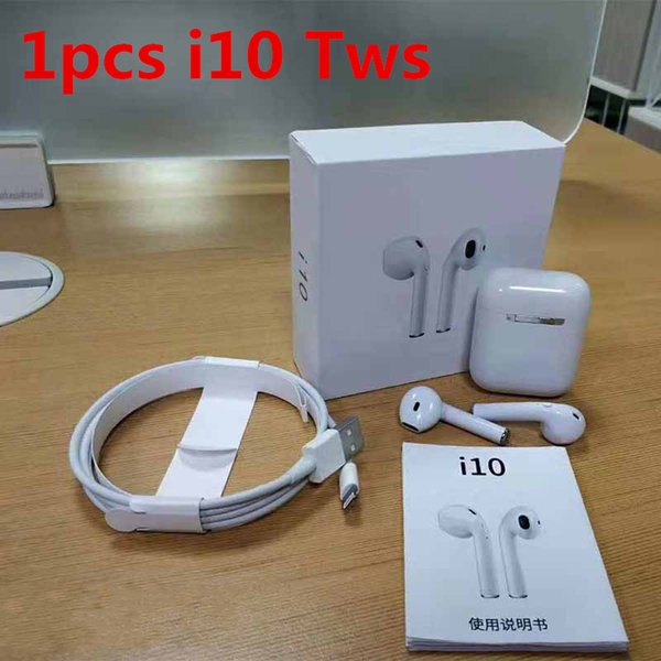1pcs i10 tws wireless bluetooth 5.0 headphones ture stereo Earphones wireless headset earbuds with magnetic charger case High Quality
