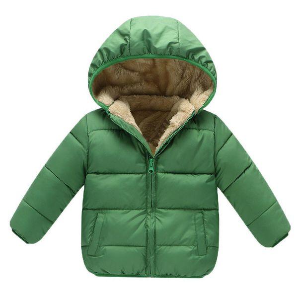 buona qulaity ragazzi cappotti invernali caldo spessore giacche con cappuccio per bambini solido abbigliamento tuta sportiva bambini giacche di velluto di cotone pile