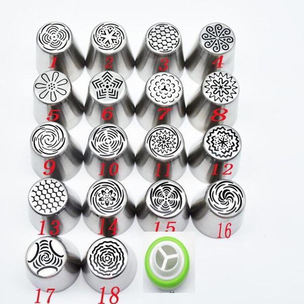 19 adet / takım Pasta Memeleri Ve Çoğaltıcı Buzlanma boru İpuçları Setleri Paslanmaz Çelik Gül Krem Bakeware Kek Kek Dekorasyon araçları