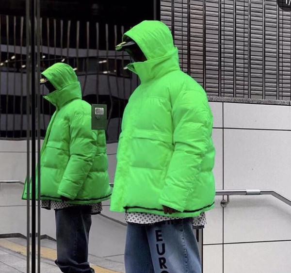 19FW Vetements Double-sided desgaste Down Jacket Homens Mulheres seção curta Coats Rua Casacos de inverno quente Cotton Casacos Outdoor # YMYRF047
