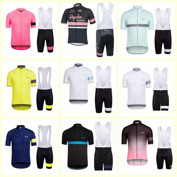 top popular RAPHA team Men shorts jerseys bib set Bike Clothing Quick-Dry Bicycle Sportwear Ropa Ciclismo free delivery E1520 2019