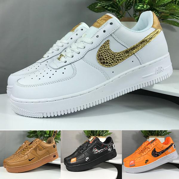 Acquista Nike Air Force 1 One Off White One 1 Dunk Mens Scarpe Casual Chaussures Skateboard Nero Bianco Arancione Grano Donna Uomo Alto Basso Designer