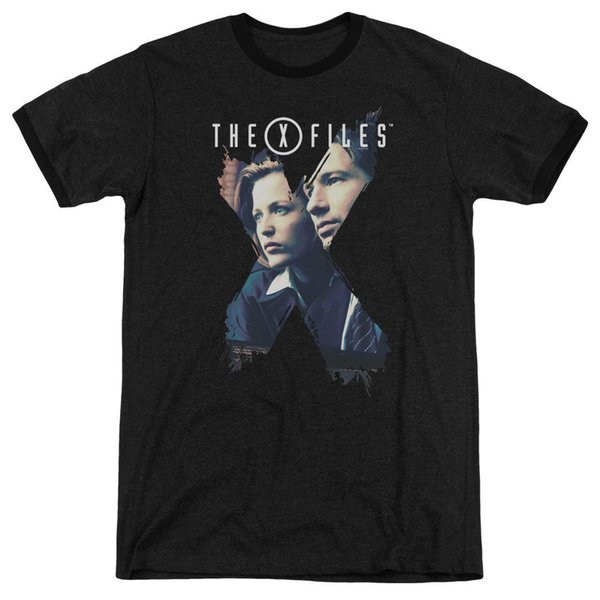 X Files Agents Adult Ringer T Shirt Taglia Discout Hot New Tshirt Giacca Croazia Tshirt in pelle