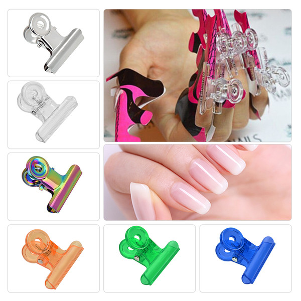Nail Pinching Clips Easy French C Line Metal Nail Stencil Edge Trimmer Shaping Template DIY Manicure Art Styling Tool