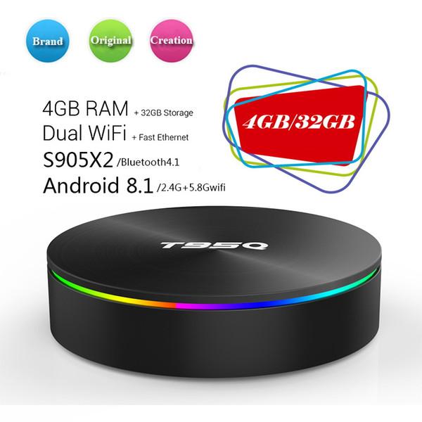 T95Q Android 8.1 TV Box Amlogic S905X2 Quad Core 4K HD Smart Mini PC 4G 32G Wifi H.265 Smart Media Player Better X96 MAX H96MAX+