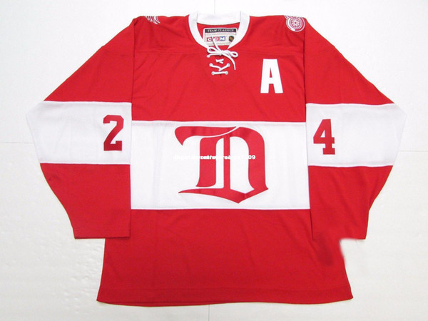 Cheap custom CHRIS CHELIOS DETROIT RED WINGS ALUMNI VINTAGE CCM HOCKEY JERSEY stitch add any number any name Mens Hockey Jersey GOALIE CUT 5