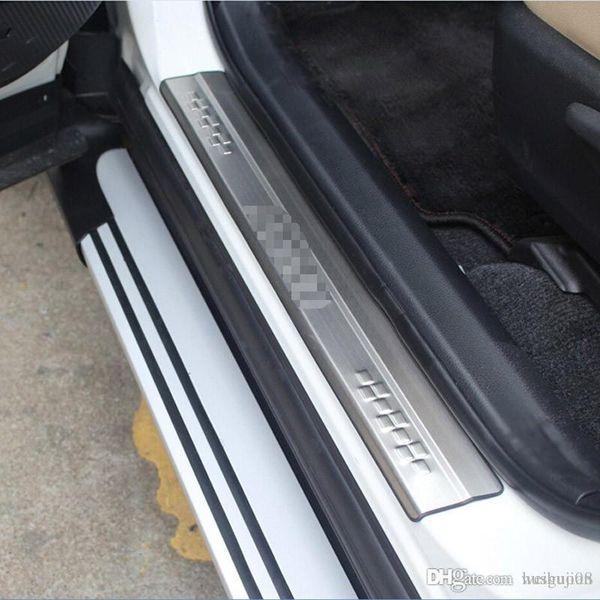 Estilo de coche para Toyota RAV4 RAV 4 2013 2014 2015 2016 2017 Acero inoxidable Protector de umbral exterior de puerta Cubierta de placa de desgaste del pedal 4 piezas