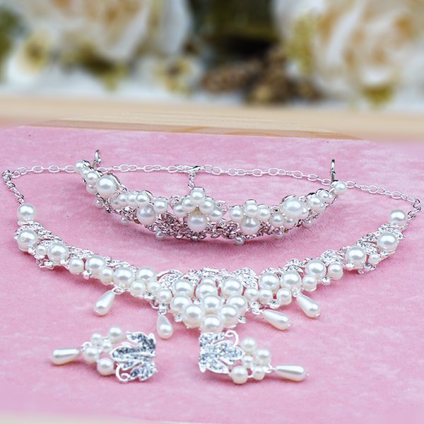 cecilia jewelry sets necklace earring sets princess crown tiaras fashion jewelry for bride women girls and wedding party