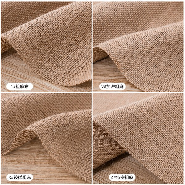 Jute Fabric Raw rough solid linen fabric for sewing storage bag and pillow case background cloth TJ0208