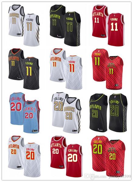 the best attitude 1fe8a 8d591 2019 2019 NCAA Mens Womens Youth Atlanta # Trae 11 Young 20 John Collins  Custom Hawks White Black Red Blue Basketball Jerseys From Qqq852908942, ...