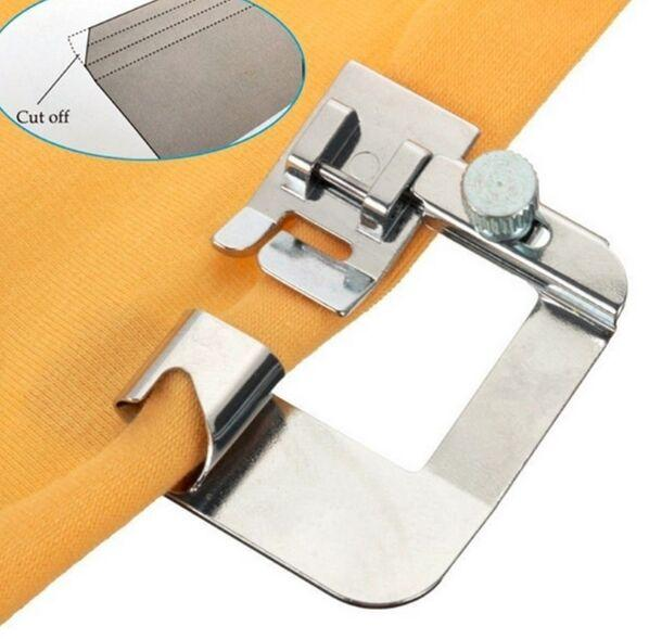 """top popular sewing tools Domestic Sewing Machine Parts Hemmer Foot 4 8"""" Rolled Hem Foot 6290-4 For Brother Singer Janome Pfaff viking 2021"""