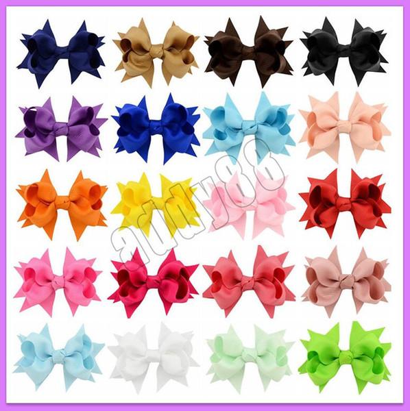 3,3 pouces 20 couleurs Barrettes Bébé Arc Épingles À Cheveux Mini Swallowtail Bows Pinces à cheveux enfants Filles Pinces À Cheveux Solides Enfants Accessoires Cheveux