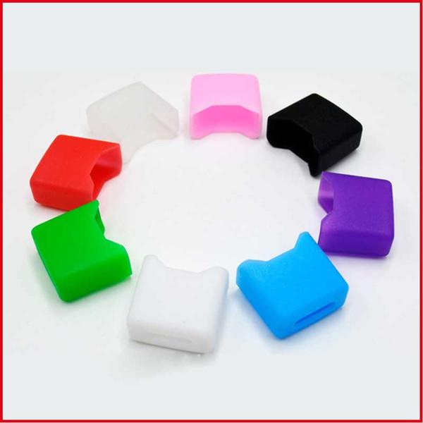 500pcs coloré silicone vape bouche testeur de couverture testeur large alésage jetable drip tip test pour pods vape plat 16x8x15mm DHL