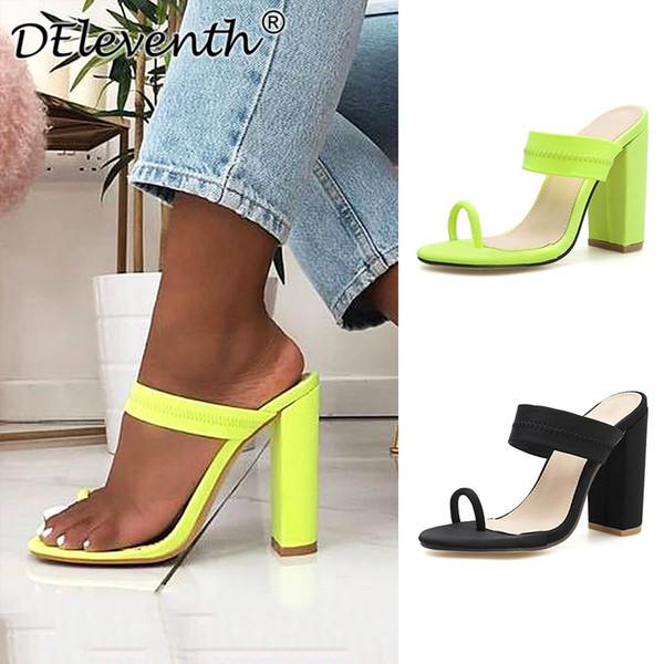 Туфли женские простые на каблуках сандалии тапочки обувь