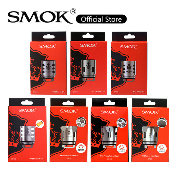 best selling SMOK TFV12 Prince Mesh Coil 0.15ohm V12 Prince Strip Max Mesh Q4 M4 X6 Coils Head For Stick Prince Kit 100% Original
