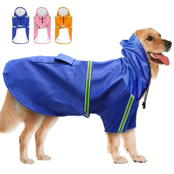 Dog Waterproof Raincoats Teddy Puppy Apparel Spring Summer Outdoor Pet Dog \'S Raincoat Wholesale Reflective Night Raincoat