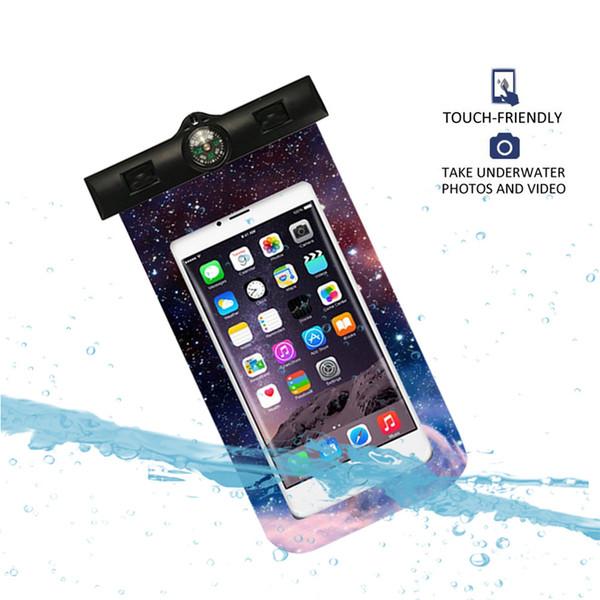 Yüzme Çanta Sualtı Kılıfı Kuru Kapak Evrensel Cep Telefonu Cep Telefonu Pusula Için Su Geçirmez Çanta 3.5-6 Inç Yeni A30