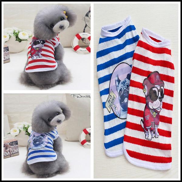 F43c cão colete de verão filhote de cachorro de algodão colete pet legal fina verão T-shirt pequenos animais de estimação roupas de verão