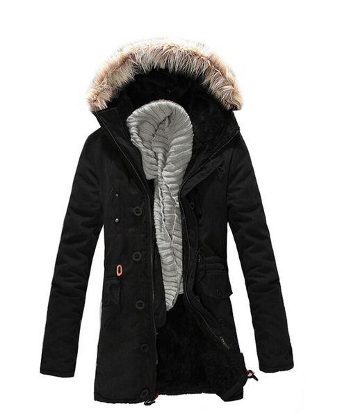Big Mens Winter Coats 2017 Brand Fashion Warm Cold Winter Fur Hooded Jacket Men Parka Men Long Padded Coat Top 3XL