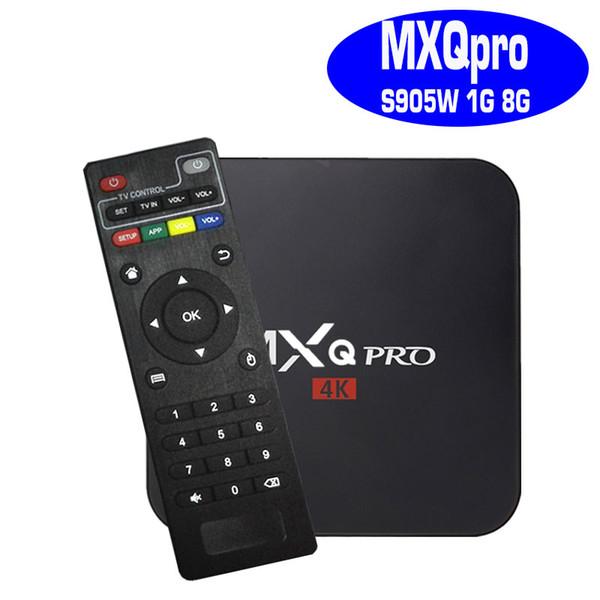 1 ГБ 8 ГБ Горячая MXQ PRO Amlogic S905W Четырехъядерный Android 7.1 TV BOX 4K Media Player Поддержка IPTV