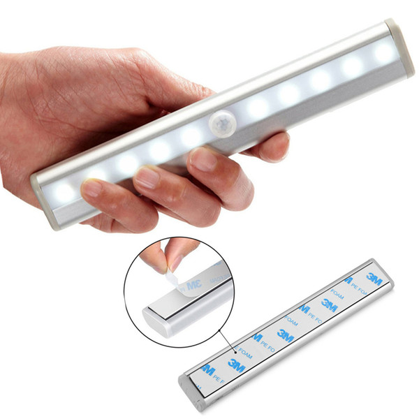 O armário sem fio do sensor de movimento ilumina 10-LED USB Recarregável O armário ilumina-se sob a iluminação do armário