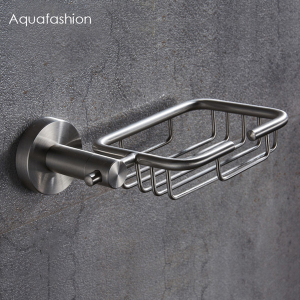 Stainless Steel Soap Holder Bathroom Accessories Shower Soap Dish Bathroom Wall Soap Holder Free Shipping SH190919