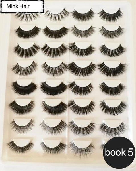 Wholesale popular new style 3d mink hair lashes 3d silk hair eyelashes with private label High quality with lower price 16 pairs eyelashes