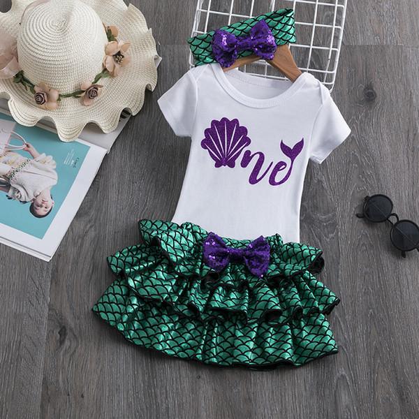1 an anniversaire robe bébé fille robe de soirée Tutu Petite Sirène Dress Up Girls Tenues tout-petits Vêtements pour bébés cadeau de Noël