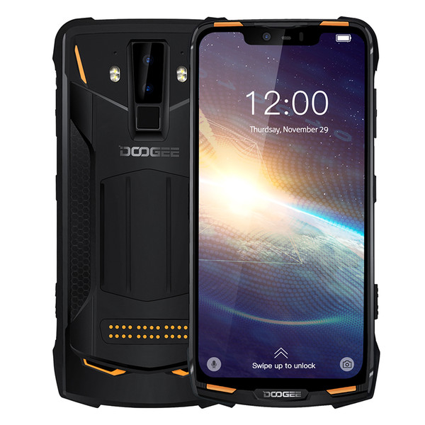 """top popular Doogee S90 Pro Modular Rugged Mobile Phone IP68 Helio P70 6.18"""" Display Octa Core 6GB 128GB 16MP+8MP Android 9 12V2A Smartphone 2021"""
