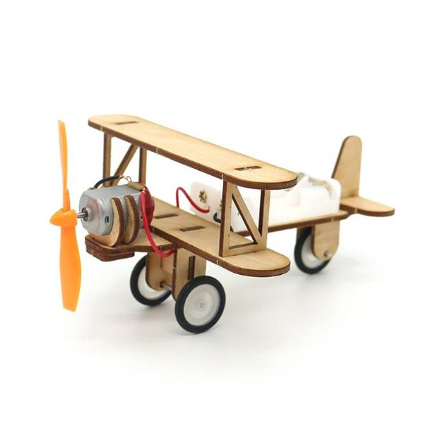 Children Diy Science And Technology Production Scientific Manual Assembly Model Electric Double-Wing Taxiing Machine Creator Education Expe