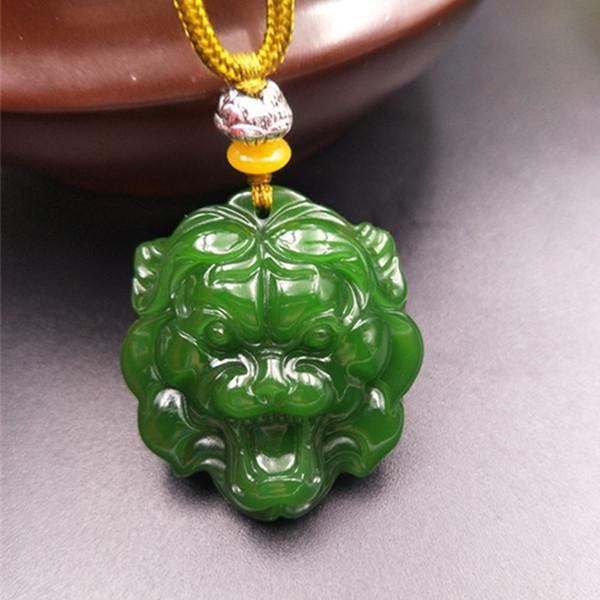 Xinjiang Hotan Jade Jade Tiger Pendant 12 Zodiac Tiger Jade Pendant