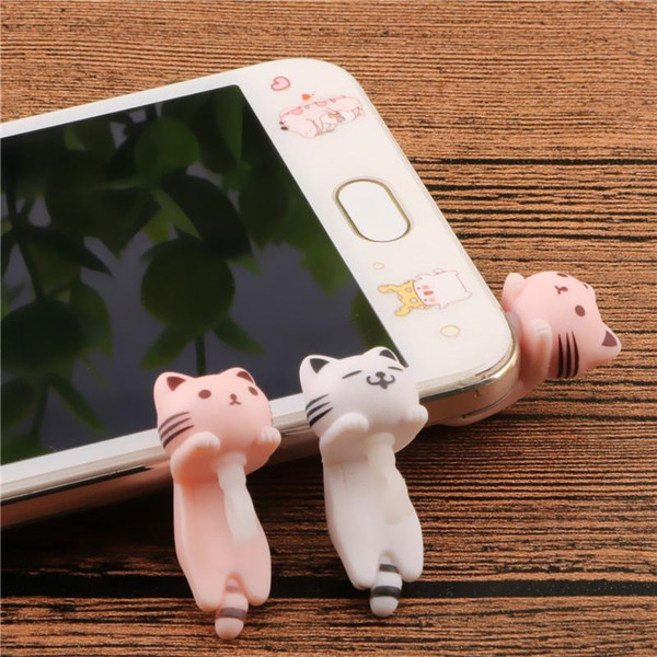 SIANCS Cat 3.5MM Mobile Phone Earphone Jack Dust Plug Phone Accessories For iPhone 6 Android Smart Phone Cute Anti Dust Plug